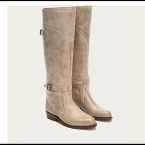 FRYE Women's Dorado Riding Boots Taupe Size 7